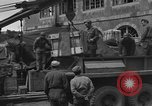 Image of wooden crates Cherbourg Normandy France, 1944, second 10 stock footage video 65675049320