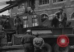 Image of wooden crates Cherbourg Normandy France, 1944, second 12 stock footage video 65675049320