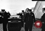 Image of Crew of USS Augusta visit HMS Prince of Wales Ship Harbour Newfoundland, 1941, second 1 stock footage video 65675049359
