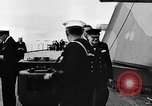 Image of Crew of USS Augusta visit HMS Prince of Wales Ship Harbour Newfoundland, 1941, second 2 stock footage video 65675049359
