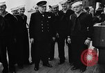 Image of Crew of USS Augusta visit HMS Prince of Wales Ship Harbour Newfoundland, 1941, second 10 stock footage video 65675049359