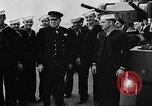 Image of Crew of USS Augusta visit HMS Prince of Wales Ship Harbour Newfoundland, 1941, second 11 stock footage video 65675049359