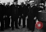 Image of Crew of USS Augusta visit HMS Prince of Wales Ship Harbour Newfoundland, 1941, second 12 stock footage video 65675049359