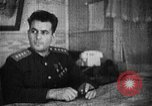 Image of Soviet Army officer at his desk Soviet Union, 1945, second 3 stock footage video 65675049391