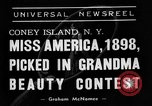 Image of beauty contest Coney Island New York USA, 1938, second 4 stock footage video 65675049428