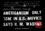 Image of Harold Morris Warner or Harry Warner Hollywood Los Angeles California USA, 1938, second 1 stock footage video 65675049456
