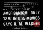 Image of Harold Morris Warner or Harry Warner Hollywood Los Angeles California USA, 1938, second 4 stock footage video 65675049456