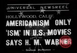 Image of Harold Morris Warner or Harry Warner Hollywood Los Angeles California USA, 1938, second 7 stock footage video 65675049456