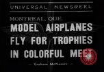 Image of model planes Montreal Quebec Canada, 1938, second 1 stock footage video 65675049459