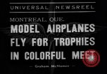 Image of model planes Montreal Quebec Canada, 1938, second 2 stock footage video 65675049459