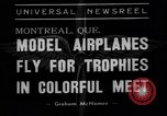 Image of model planes Montreal Quebec Canada, 1938, second 3 stock footage video 65675049459