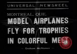 Image of model planes Montreal Quebec Canada, 1938, second 4 stock footage video 65675049459