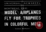 Image of model planes Montreal Quebec Canada, 1938, second 5 stock footage video 65675049459