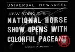 Image of National horse show of 1938 New York City USA, 1938, second 2 stock footage video 65675049463