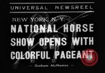 Image of National horse show of 1938 New York City USA, 1938, second 3 stock footage video 65675049463