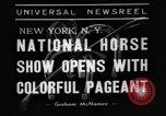 Image of National horse show of 1938 New York City USA, 1938, second 4 stock footage video 65675049463