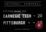 Image of Football game of Carnegie Mellon versus Pittsburgh Pittsburgh Pennsylvania USA, 1938, second 2 stock footage video 65675049467
