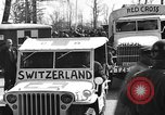 Image of Red Cross trucks Buchenwald Germany, 1945, second 1 stock footage video 65675049491