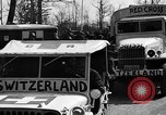 Image of Red Cross trucks Buchenwald Germany, 1945, second 3 stock footage video 65675049491