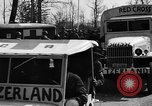 Image of Red Cross trucks Buchenwald Germany, 1945, second 4 stock footage video 65675049491