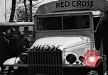 Image of Red Cross trucks Buchenwald Germany, 1945, second 8 stock footage video 65675049491