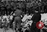 Image of pile of dead Buchenwald Germany, 1945, second 10 stock footage video 65675049492