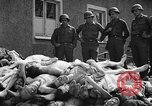 Image of dead bodies Buchenwald Germany, 1945, second 1 stock footage video 65675049495