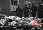 Image of dead bodies Buchenwald Germany, 1945, second 8 stock footage video 65675049495