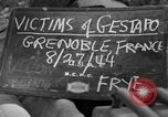 Image of coffins Grenoble France, 1944, second 1 stock footage video 65675049517