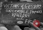 Image of coffins Grenoble France, 1944, second 2 stock footage video 65675049517