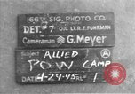 Image of Allied prisoner of war camp Moosburg Germany, 1945, second 3 stock footage video 65675049538