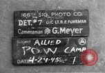 Image of Allied prisoner of war camp Moosburg Germany, 1945, second 4 stock footage video 65675049538