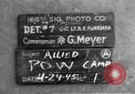 Image of Allied prisoner of war camp Moosburg Germany, 1945, second 5 stock footage video 65675049538