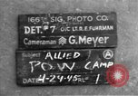 Image of Allied prisoner of war camp Moosburg Germany, 1945, second 6 stock footage video 65675049538