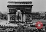 Image of General Charles de Gaulle visiting Arc de Triomphe Paris France, 1944, second 2 stock footage video 65675049552