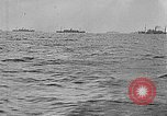 Image of United States ships in convoy to Brest, France, in World War 1 Atlantic Ocean, 1918, second 10 stock footage video 65675049590