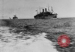 Image of United States destroyers arriving in France in World War I Brest France, 1918, second 5 stock footage video 65675049591