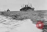 Image of United States destroyers arriving in France in World War I Brest France, 1918, second 7 stock footage video 65675049591