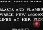 Image of Munchen liner fire New York City USA, 1930, second 2 stock footage video 65675049598