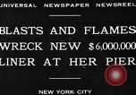 Image of Munchen liner fire New York City USA, 1930, second 3 stock footage video 65675049598