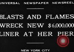 Image of Munchen liner fire New York City USA, 1930, second 4 stock footage video 65675049598