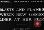 Image of Munchen liner fire New York City USA, 1930, second 8 stock footage video 65675049598