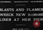 Image of Munchen liner fire New York City USA, 1930, second 9 stock footage video 65675049598