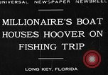 Image of Herbert Hoover Long Key Florida USA, 1930, second 1 stock footage video 65675049600