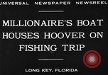 Image of Herbert Hoover Long Key Florida USA, 1930, second 2 stock footage video 65675049600