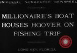 Image of Herbert Hoover Long Key Florida USA, 1930, second 3 stock footage video 65675049600