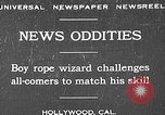 Image of rope tricks Hollywood Los Angeles California USA, 1930, second 1 stock footage video 65675049601