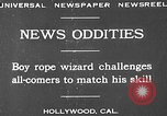 Image of rope tricks Hollywood Los Angeles California USA, 1930, second 2 stock footage video 65675049601