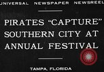 Image of Gasparilla Pirate festival Jose Gasparilla, 1930, second 2 stock footage video 65675049606