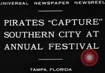 Image of Gasparilla Pirate festival Jose Gasparilla, 1930, second 5 stock footage video 65675049606